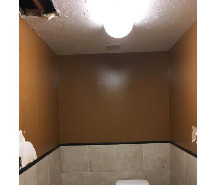 There Should Be Water In A Bathroom But Not In The Ceiling Before