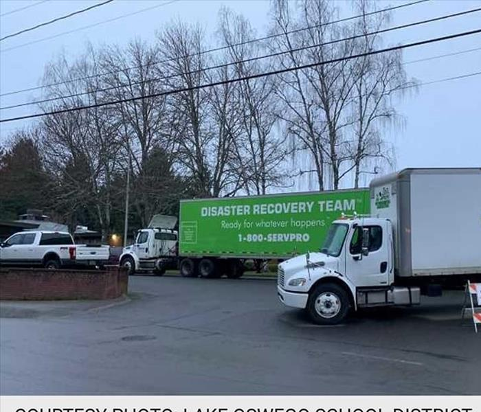 News article showing our SERVPRO truck